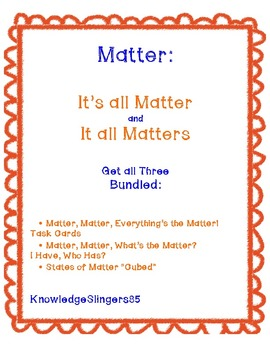 Matter Bundle: It's all Matter and It all Matters