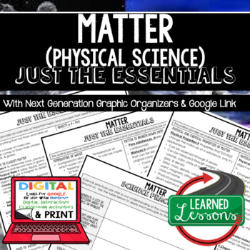 Matter Just the Essentials Content Outlines, Next Generation Science, Google