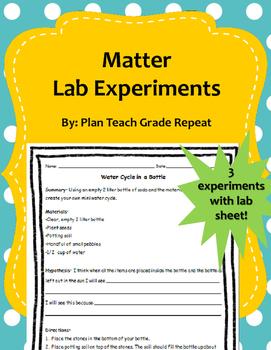 Matter Lab Experiments