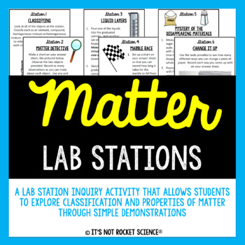 Matter Lab Station Activity