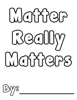 Matter Lapbook