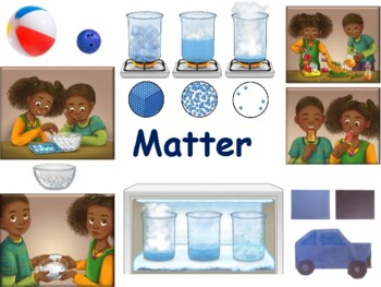 Matter Lesson & Flashcards - task cards, study guide, 2016 update