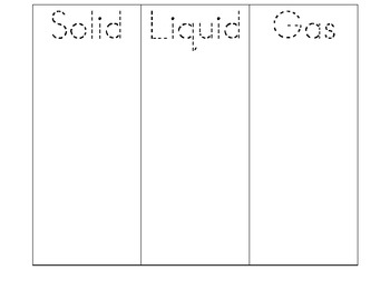 liquid solid sorting worksheet teaching resources  teachers pay   matter liquids solids and gases sort