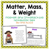Matter Mass Weight Poster and Interactive Notebook INB Set