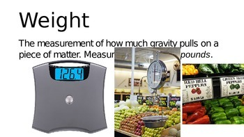Matter, Mass and Weight