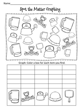 Matter Math and Literacy Activity Pack-Includes student pennant banner!