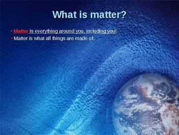 Matter Matters