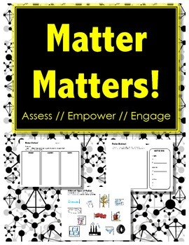 Matter Matters - ASSESSMENT & DIAGNOSTIC - Sorting // Cut and Paste Activity
