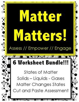 Matter Matters - BUNDLE PACK!!! - Science // States of Matter // Reading
