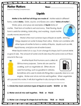 Matter Matters - LIQUIDS - Science // Reading // States of Matter