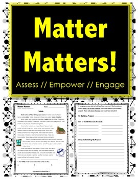 Matter Matters - SOLIDS - Science // Reading // Writing // States of Matter
