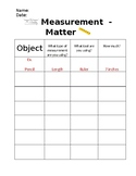 Matter Measurement Chart