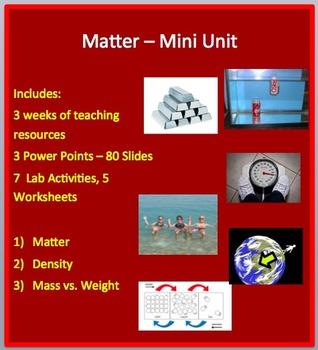 Matter Mini Unit - PowerPoint Lessons, Laboratory Activities & Assessments