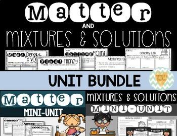 Matter, Mixtures, & Solutions Unit for Upper Grades