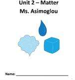 Matter, Particle Diagrams, Density- Chemistry Complete Unit!!  No Prep!
