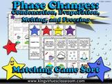 Matter: Phase Changes Matching Game Sort #2 - Evaporation, Condensation, Melting