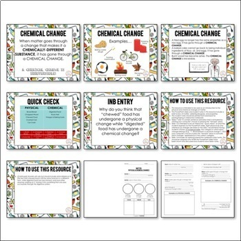 Matter: Physical and Chemical Changes PowerPoint and Notes