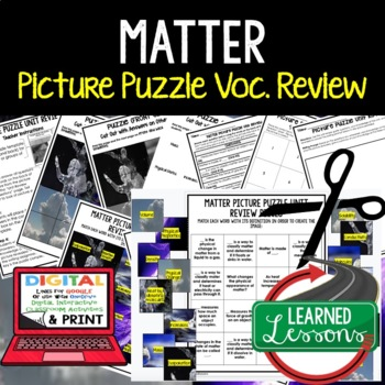 Matter Picture Puzzle Study Guide Test Prep (Physical Science)