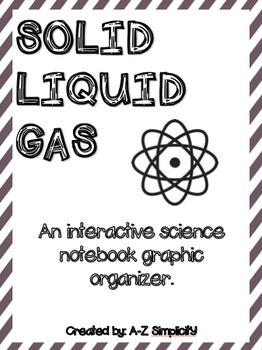 Solid, Liquid, and Gas! Freebie!