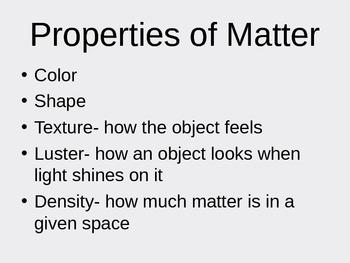 Matter Power Point Presentation