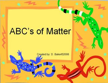 Matter PowerPoint Lesson