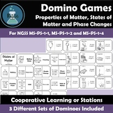 Properties of Matter and States of Matter Vocabulary Dominoes NGSS MS-PS-1