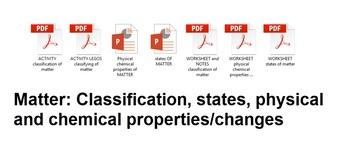 Matter, Properties of matter, Changes in Matter, Classification of Matter