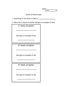Matter Quizzes