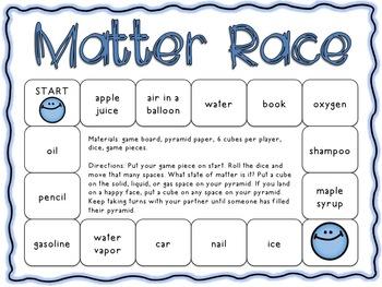 Matter Race: A Game Identifying States of Matter