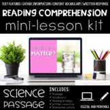 Matter Reading Comprehension Mini Lesson for Digital Classrooms