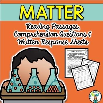 Matter Reading Passages {PLUS Comprehension Questions!}