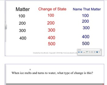 Matter Review Jeopardy