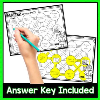Matter Review Maze Worksheet