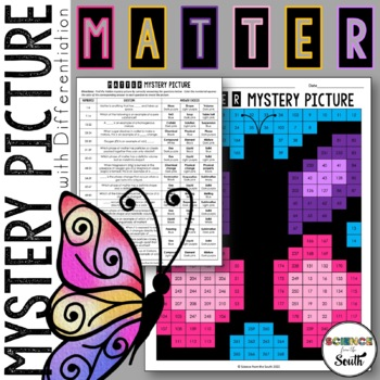 Matter Review Mystery Picture for Review or Assessment