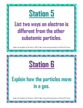 Properties of Matter Review: Physical Science Stations Activity