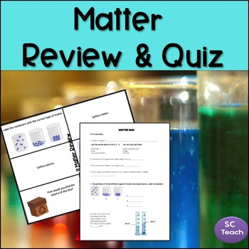 Matter Review and Quiz