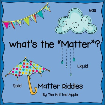 Matter Riddles {PowerPoint Presentation and Riddle Template}