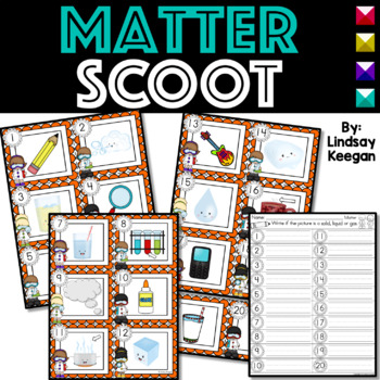 Matter SCOOT or Write the Room - Labeling Solid, Liquid and Gas