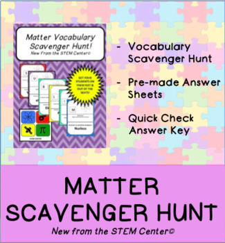 Matter Scavenger Hunt Game