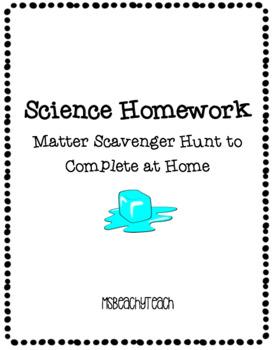 Matter Scavenger Hunt {homework}