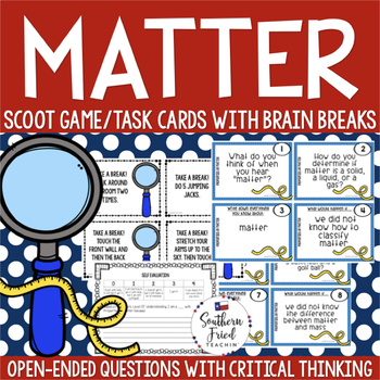 Matter Scoot Game/Task Cards