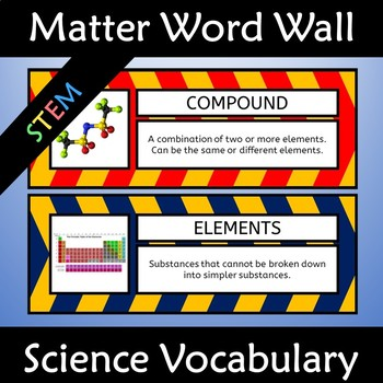 Matter Word Wall Poster and Science Anchor Charts