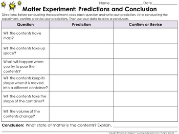Matter: Scientific Investigations Experiment #3 - Gas - Re