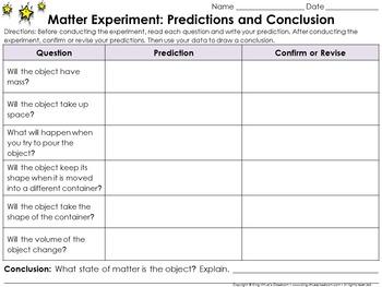 Matter: Scientific Investigations Experiment #1 - Solid -