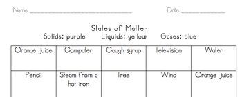 Matter - Solid, Liquid, Gas