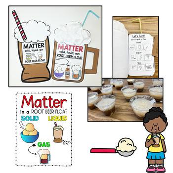 Matter: Solid, Liquid, & Gas {Root Beer Float} Craft Booklet (Editable) Science