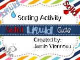 Matter ~ Solids, Liquids, & Gases Sorting Activity