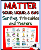 States of Matter Sorting Activities, Printables, Flap Book, and Science Posters