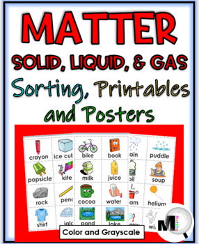 States of Matter Sorting Activities, Printables, Flap Book