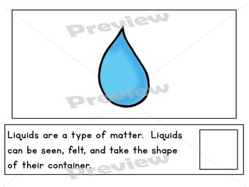 Matter ~ Solids, Liquids, & Gases Unit for Special Education and Early Childhood
